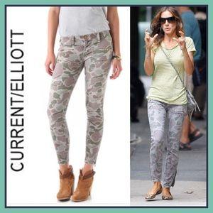 Current/Elliot Multi-Zip Stiletto Camo Jeans